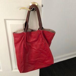 Red leather sondra Roberts bag